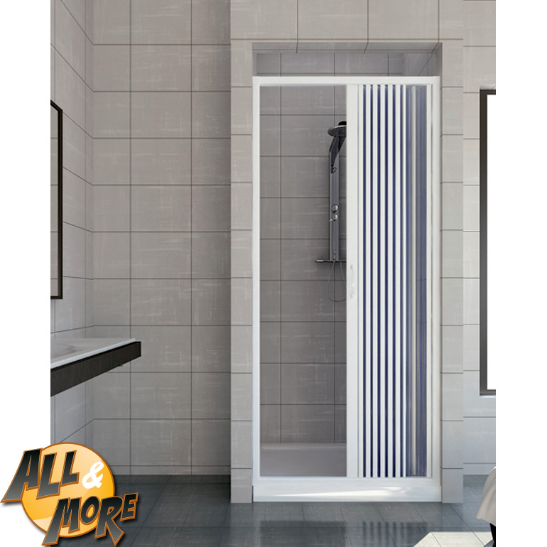 All box cabina porta doccia in pvc con apertura - Porta a soffietto per doccia ...